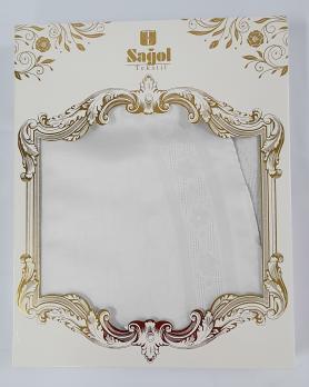 Скатерть Set Sagol тефлон 160x260+8 psc St-052 White
