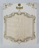 Скатерть Set Sagol тефлон 160x300+8 psc Sgl-003 Cream