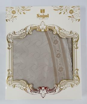 Скатерть Set Sagol тефлон 160x300+8 psc St-052 Cappucino