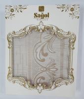 Скатерть Sagol тефлон в коробке 140x180 ovale Sgl-003 Cappucino