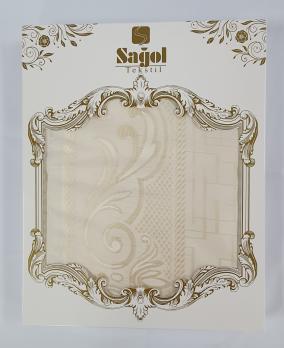 Скатерть Sagol тефлон в коробке 160x300 ovale Sgl-003 Cream