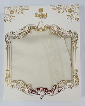 Скатерть Sagol тефлон в коробке 160x220 ovale St-052 Cream
