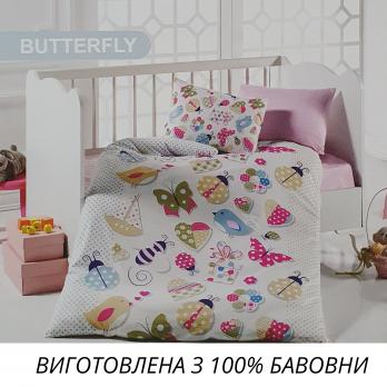 Постельное белье Mintex ранфорс 100x150 см Butterfly