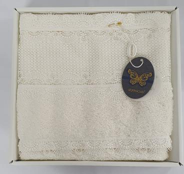 Полотенце бамбук в подарочной упаковке 3300 Dantela 50x90