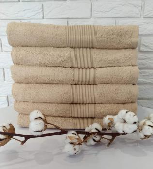 Полотенце Cottonize 50х90 однотонное 912 Капучино
