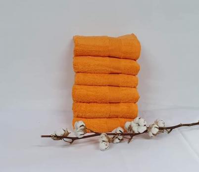 Полотенце Cottonize 70х140 однотонное 912 Оранжевий