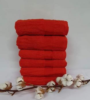 Полотенце Cottonize 70х140 однотонное 912 Красний