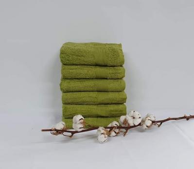 Полотенце Cottonize 100х150 однотонное 912 Зелений
