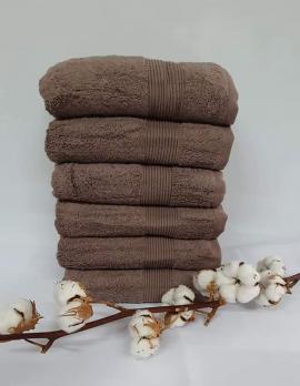 Полотенце Cottonize 100х150 однотонное 912 Коричневий
