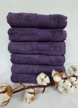 Полотенце Cottonize 100х150 однотонное 912 Фиолетовий