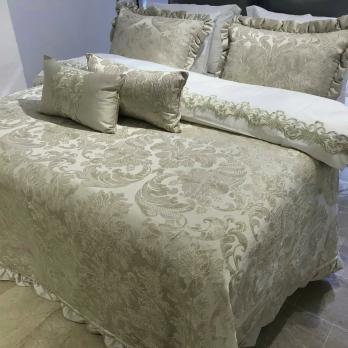 Покрывало с наволочками и подушками Pepper Home элитное 270*260 Valeron Grey