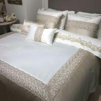 Покрывало с наволочками и подушкой Pepper Home элитное 270*260 Glory Cream-Beige
