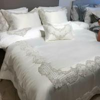 Покривало з наволочками і подушками Pepper Home елітне 270 * 260 Melinda Cream