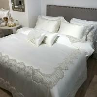 Покрывало с наволочками и подушками Pepper Home элитное 270*260 Melinda Cream