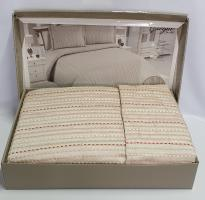 Покрывало My Bed Жакард 240x260 с наволочками Gizgili Bej