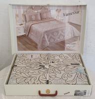 Покрывало My Bed Жакард 240x260 с наволочками Vanessa Kahve