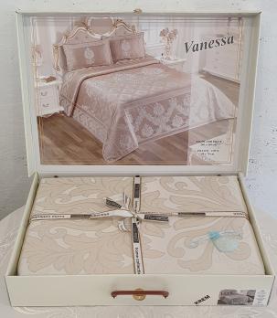 Покрывало My Bed Жакард 240x260 с наволочками Vanessa Cream