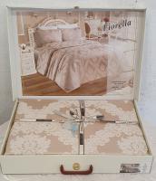 Покрывало My Bed Жакард 240x260 с наволочками Fiorella Capuccino