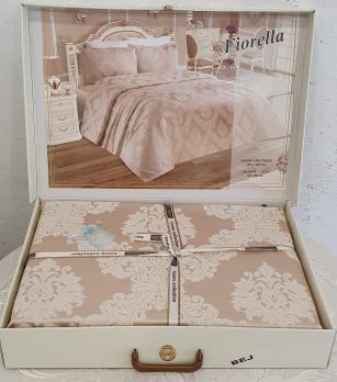 Покрывало My Bed Жакард 240x260 с наволочками Fiorella Bej