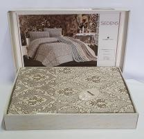 Покрывало My Bed Жакард 240x260 с наволочками Sedens Capuccino