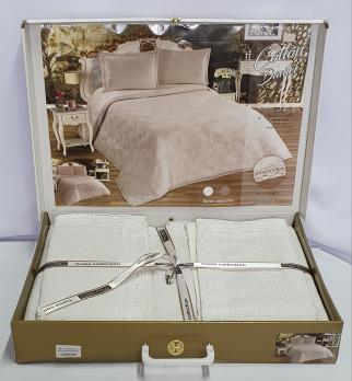 Покрывало My Bed Вафельне 240x260 с наволочками Cotton White