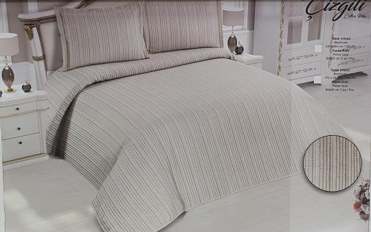 Покрывало My Bed Жакард 240x260 с наволочками Gizgili Kahve