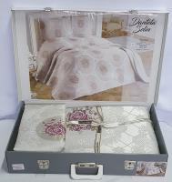 Покрывало My Bed Жакард 240x260 с наволочками Dantela Bej