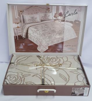 Покривало My Bed Жакард 240x260 з наволочками Carla Capuccino