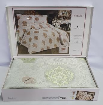 Покрывало My Bed з китичками 240x260 с наволочками Maria Yesil