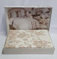 Покрывало My Bed Жакард 170x240 с наволочкой Perlla Pudra