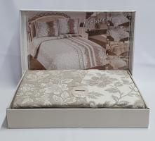 Покрывало My Bed Жакард 170x240 с наволочкой Perlla Kahve