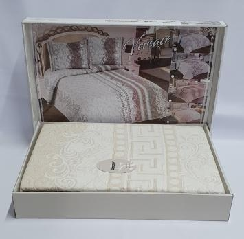 Покрывало My Bed Жакард 170x240 с наволочкой Versace Bej