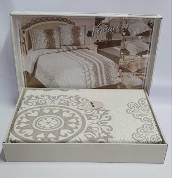 Покрывало My Bed Жакард 170x240 с наволочкой Onella Kahve