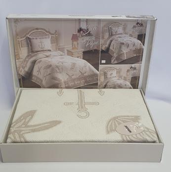 Покрывало My Bed Жакард 170x240 с наволочкой Sea Bej