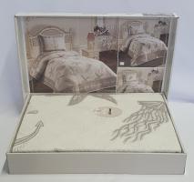 Покрывало My Bed Жакард 170x240 с наволочкой Sea Kahve