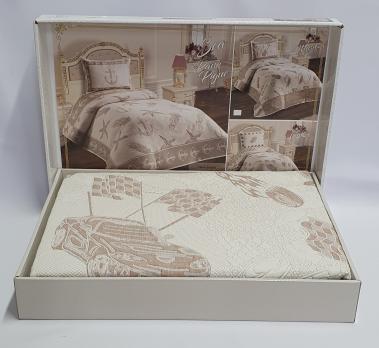 Покрывало My Bed Жакард 170x240 с наволочкой Cars Bej