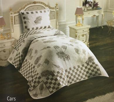 Покрывало My Bed Жакард 170x240 с наволочкой Cars Kahve