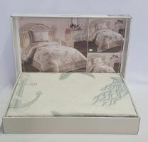 Покрывало My Bed Жакард 170x240 с наволочкой Sea Blue