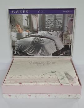 Постільна білизна Maison D'or сатин 200х220 Roses Pink
