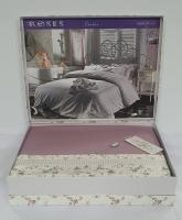 Постельное белье Maison D'or сатин 200х220 Roses Dark Lilac
