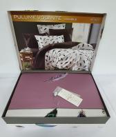 Постельное белье Maison D'or сатин с вышивкой 200х220 Pulume Volante Dark Lilac