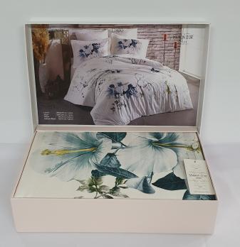 Постельное белье Maison D'or сатин 200х220 Alita Turquoise