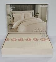 Постельное белье Maison D'or сатин с вышивкой 200x220 Elita Dior Brown
