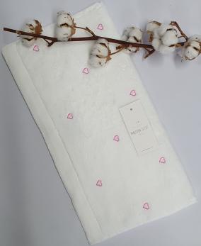 Полотенце Maison D'or Love 50x100 White/Pink