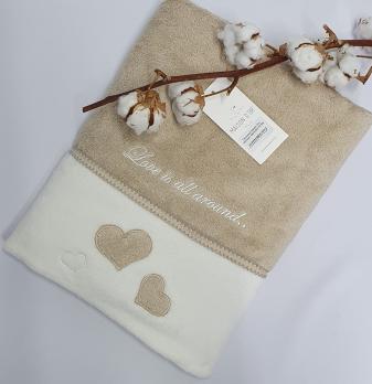 Полотенце Maison D'or Monique Hearts 85x150 Bej