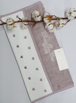 Полотенце Maison D'or Lavoine Hearts 85x150 Dark Lilac