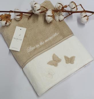 Полотенце Maison D'or Monique Butterfly 85x150 Bej