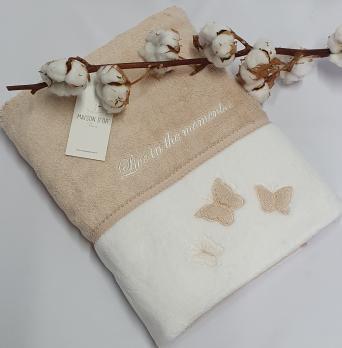Полотенце Maison D'or Monique Butterfly 85x150 Ten Pudra