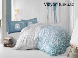 Постільна білизна Altinbasak ранфорс 200x220 Vizyon Turkuaz