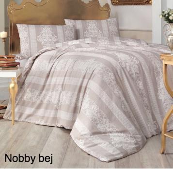 Постельное белье Altinbasak ранфорс 200x220 Nobby Bej